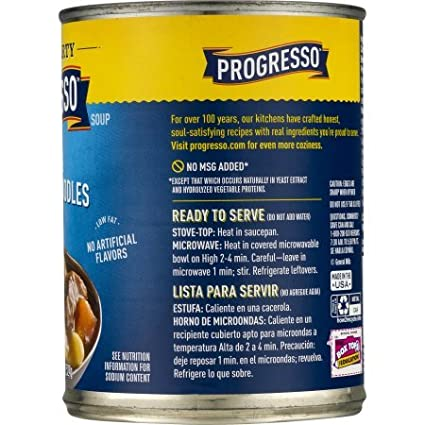 Amazon.com : PACK OF 12 - Progresso Low Fat Rich & Hearty Steak & Homestyle Noodles Soup 18.5 oz Can, 18.5 OZ : Grocery & Gourmet Food