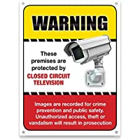 Video Surveillance Security Camera System Warning Alert Sign for home or business. CCTV warning sign may be all you need.