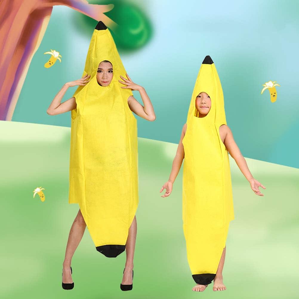 Naduew Banana Costume Halloween Divertido Novedad Juego de Roles ...