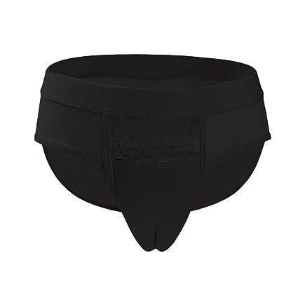 LXXQ Cintura Media Fortalecer Cross-Dressing Ropa Interior Disfraz Ocultar JJ Pene Ropa Interior Hombre