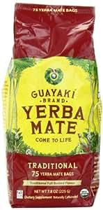 Guayaki Traditional Organic Mate Tea, 7.8oz (225g), 75 Tea Bags