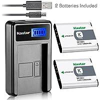 Kastar Battery (X2) & LCD USB Charger for Sony NP-BK1, NPBK1 and Cybershot DSC-W180, DSC-W190, DSC-W370, DSC-S750, DSC-S780, DSC-S950, DSC-S980, Webbie MHS-CM1 HD, MHS-PM1, MHS-PM5, Bloggie MHS-CM5