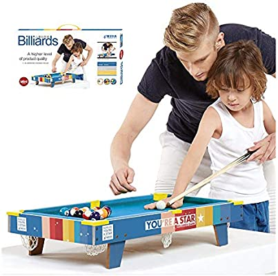 CX TECH Deluxe Pool Table Top Kids Mini Mesa de Billar Portable ...