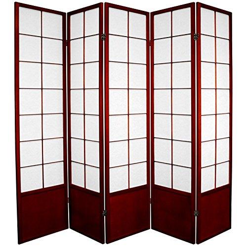 Oriental Furniture 6 ft. Tall Zen Shoji Screen - Rosewood...