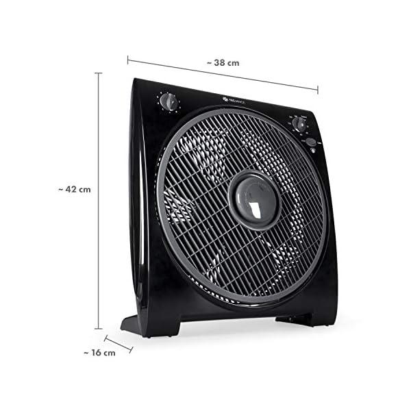 51LPWXbZ8wL Tecvance, Schwarz Box Fan Ventilator (32 cm) -Raumventilator mit 4 Stufen und Timer, Kleiner, leiser & leistungsstarker…