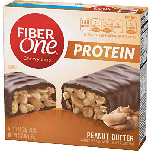 Fiber One Protein Chewy Bar Peanut Butter 5 - 1.17 oz Bars (pack of 12)