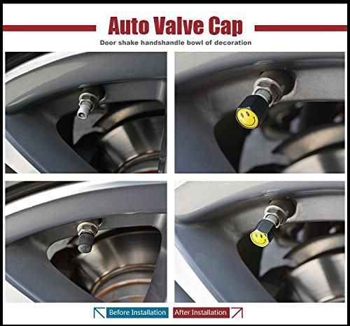 US85 Nismo Logo Emblem Auto Car Wheel Tire Air Valve Caps Stem Dust Cover /& Keychain Accessories Decoration Birthday Gift Black