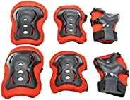 Kids Roller Skating Bike Sports Safety Protective Knee Elbow Wrist Pads Guards for Outdoor Sport