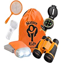Adventure Kids - Outdoor Explorer Kit, Children's Toy Binoculars, Flashlight, Compass, Magnifying Glass, Butterfly Net & Backpack. Great Kids Gifts Set for Birthday, Christmas, Camping and Educational