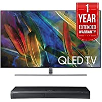 Samsung QN65Q7F Flat 65-Inch 4K Ultra HD Smart QLED TV (2017 Model) w 4K Ultra HD Blu-ray Player & 1 Year Extended Warranty