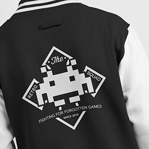 Invader white Men's Varsity Retro Jacket Squad Black Space pqwwSE