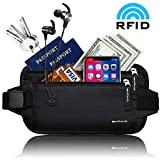 BARIHO Travel Money Belt Wallet,Hidden Waist Secure Fire Blocking Passport Holder,Ideal Comfort For Men and Women