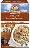 Dr. McDougall's Right Foods Organic Instant Oatmeal, Light Maple Brown Sugar, 10.7 Ounce, Pack of 7