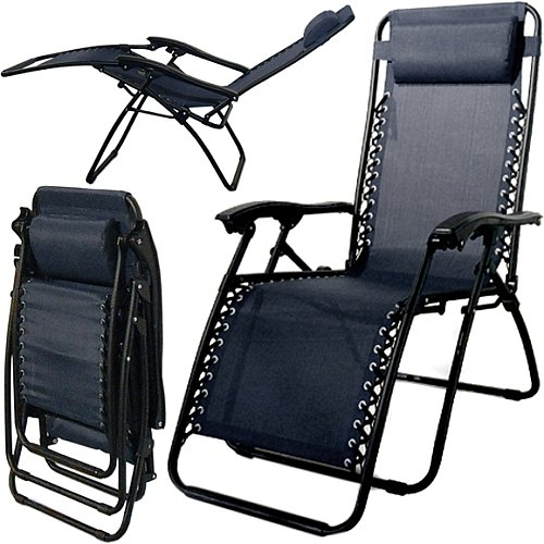 Caravan Canopy Zero Gravity Reclining Chair with Adjustable Headrest, Blue
