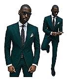 Wxili Men's Tuxedos 2 Piece Wedding Suits Noth Lapel Slim Fit 2018 New DG-M
