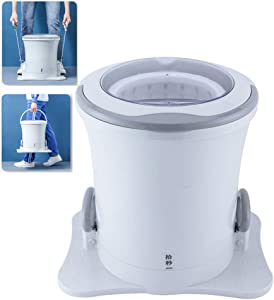 WOAIM Portable Rally-Type Mini Rotary Dryer Non-Electric Fitness Washing Machine Spin Dryer Counter Top Washer/Dryer for Camping,1