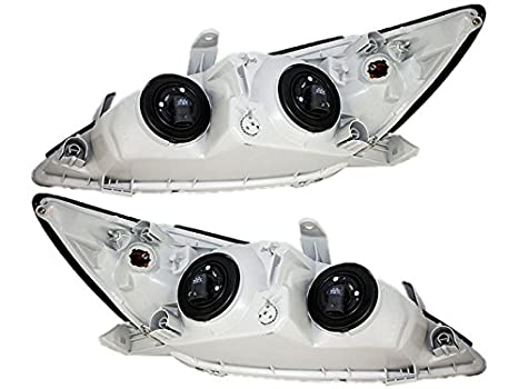 Toyota Camry (LE, XLE) Replacement Headlight Assembly (Chrome) - 1-Pair