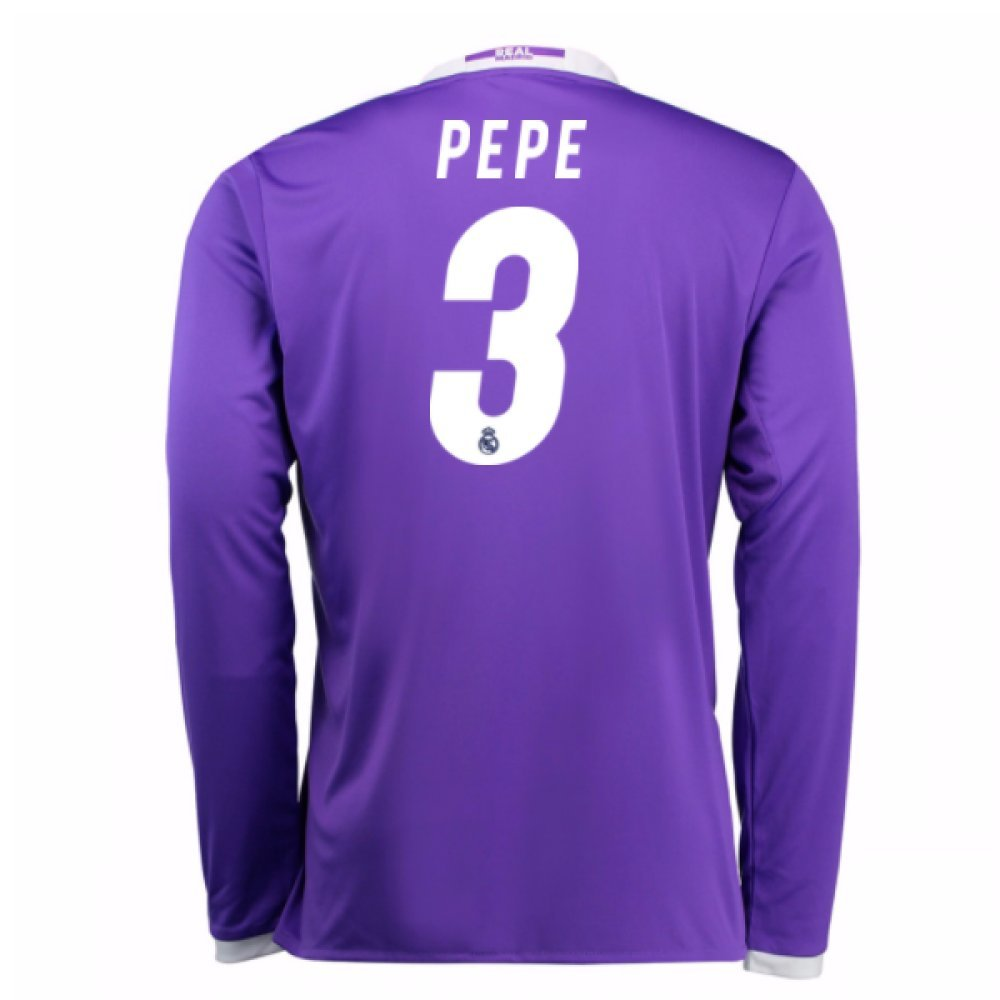 2016-17 Real Madrid Away Football Soccer T-Shirt Trikot (Pepe 3) - Kids