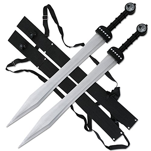 Premium Twin Blade - FANTASY SWORD Set of 2 Roman Gladiator Gladius Twin Fixed Blade Medieval SW-1271