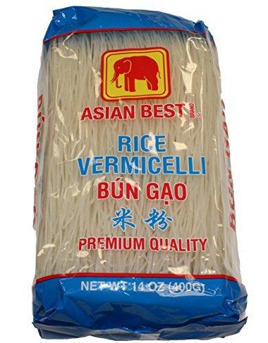 Asian Best Premium Rice Vermicelli Bun Gao, 140z (3 Packs)