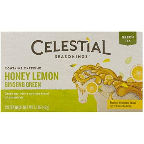 Celestial Seasonings Honey Lemon Ginseng Green Tea Bags, 20 ct