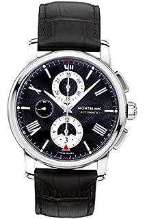 bc48d60bccd Amazon.com  Montblanc Men s 102377 Star Chronograph Watch  Montblanc ...
