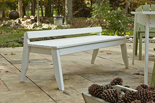 (Uwharrie Chair Co P098-82-Coffee-Dist-Pine Plaza 3-Seat Bench Without Back, Coffee-Distressed)
