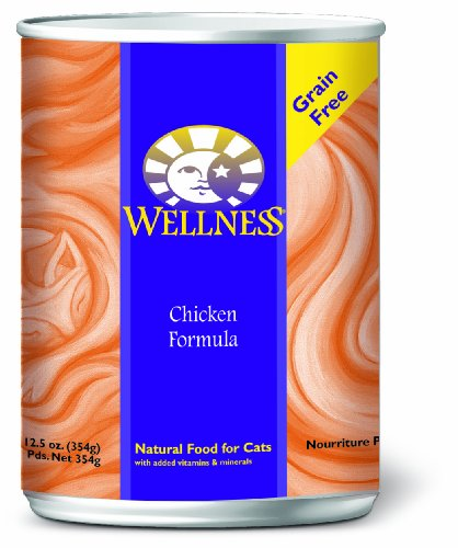 Wellness Canned Cat Food, Chicken Recipe, 12-Pack of 12-1/2-Ounce Cans, My Pet Supplies