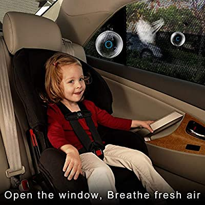 AUTOWINGS Car Window Shades Kids Baby-Car Sun Shades Kids-Sun Shades Car Windows Sun Shade-Protects Baby Kids Pets Easy /& Flexible to Use Large Size 2 pieces