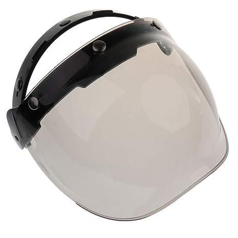 b23ee34f08de0 Blesiya Visera Del Escudo De Viento Burbuja 3-snap Para Bonanza Biltwell  Motocicleta Cascos -