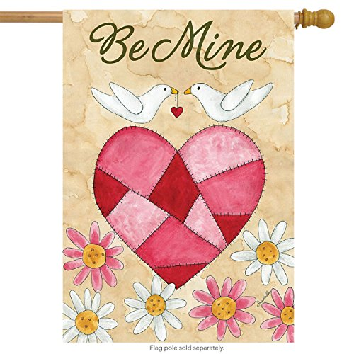Briarwood Lane Be Mine Love Birds Valentine's Day House Flag 28
