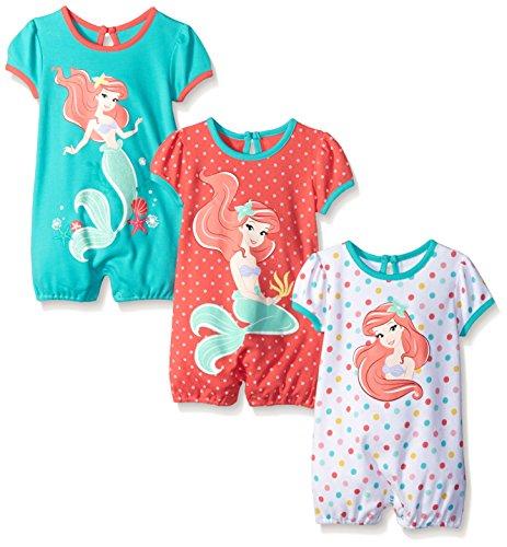 Disney Girls Little Mermaid Rompers