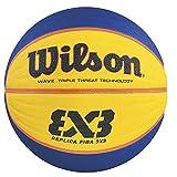 Wilson Indoor Basketball, Competition 3vs3, FIBA Certified, Sports Flooring, Granular, PVC or Linoleum Floors, Size 6, For ages 8-12, FIBA 3X3 REPLICA GAME BALL, Orange, WTB1033XB by Wilson