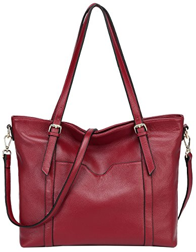 Leather Genuine Pebbled (Jair Vintage Large Shoulder Handbags Pebbled Leather Designer Womens Tote Purse)