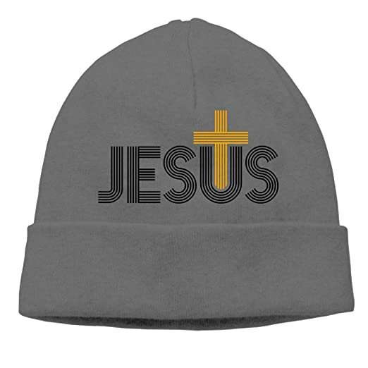 28d391c33df Image Unavailable. Image not available for. Color  Beanie Knit Hat Skull  Caps Jesus Christian ...