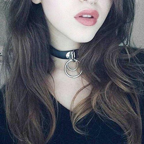 Bridalvenus Choker Collar Leather Neckband