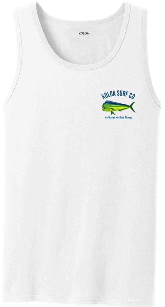 Koloa Surf Mahi Mahi No Waves Tank Top-White-S