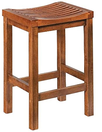 Home Style 5636 88 Cottage Oak Finish Bar Stool, 24 Inch