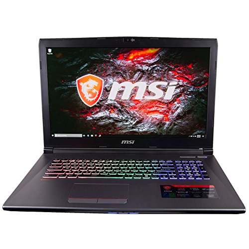 CUK MSI GF72VR Gamer VR Ready Notebook PC (i7-7700HQ 16GB DDR4 512GB NVMe SSD + 1TB HDD GTX 1060 6GB 17.3