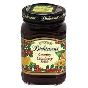 Dickinson's Relish, Country Cranberry, 9.60-Ounce (Pack of 6)