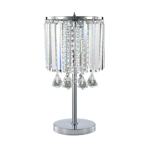 Lámparas de Escritorio Lámpara de Mesa de Cristal Larga, Bola de ...