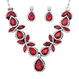 YAZILIND Women Jewelry Set Stunning Drop Shaped Chunky Necklace Earring for Party