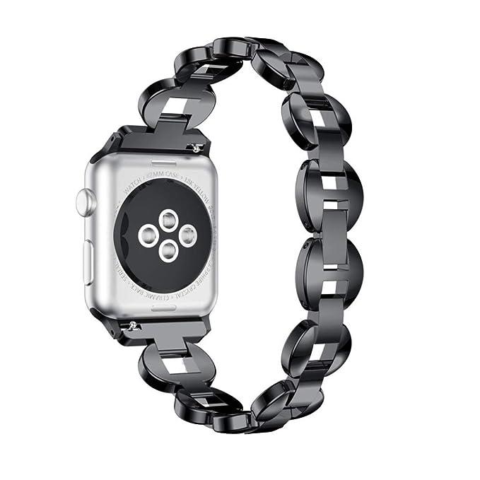 Bestow Apple Watch Series 3 aleaci¨®n 38MM Crystal Link Pulsera Reloj Band Strap