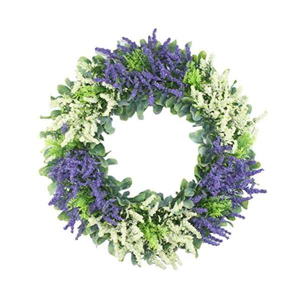 MomokoPeng 16 Inches Blossom Fall Front Door Wreath – Lush and Beautiful Spring Wreath,Indoor/Outdoor Use (Color Mix Wreath) (Color Mix Wreath)