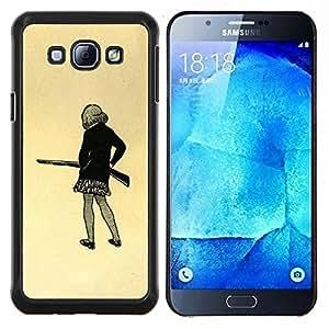 """Be-Star Único Patrón Plástico Duro Fundas Cover Cubre Hard Case Cover Para Samsung Galaxy A8 / SM-A800 ( Chica pistola Art Dibujo mini falda lápiz Shoot"""" )"""