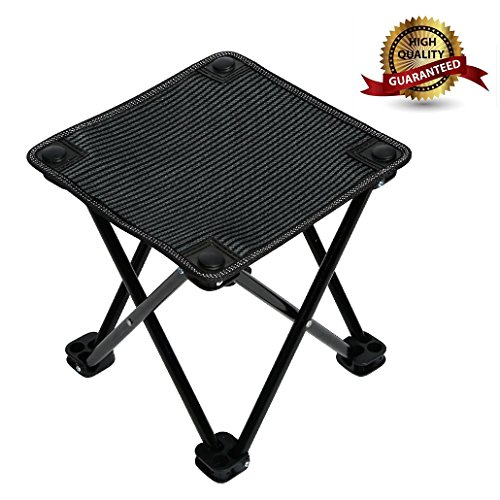 Garne T Mini Portable Folding Stool,Slacker Chair Outdoor Folding Chair for Camping,Fishing,Travel,Hiking,Garden,Beach, Quickly-Fold Chair Oxford Cloth with Carry Bag