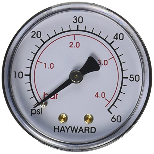 Spa Filter Pressure Gauge (Hayward ECX27091 Back Mount Pressure Gauge Replacement for Select Hayward Filter)