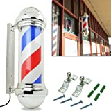 HomeSmith 30' Classic Barber Shop Pole Light Red White Blue...