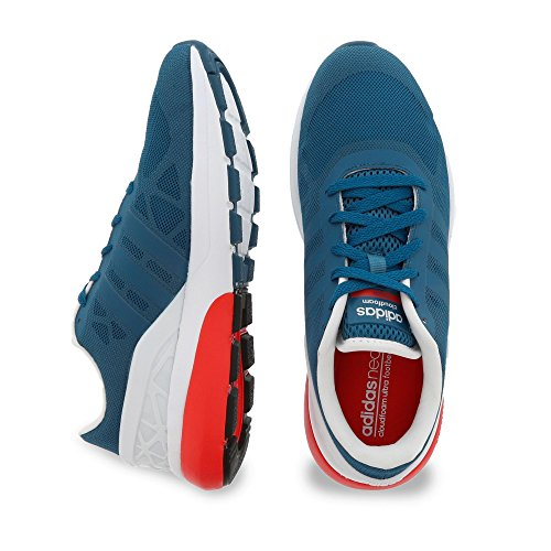 adidas Cloudfoam Flow, Men's Trainers Blue / Red (Azucen / Azucen / Rojbri)