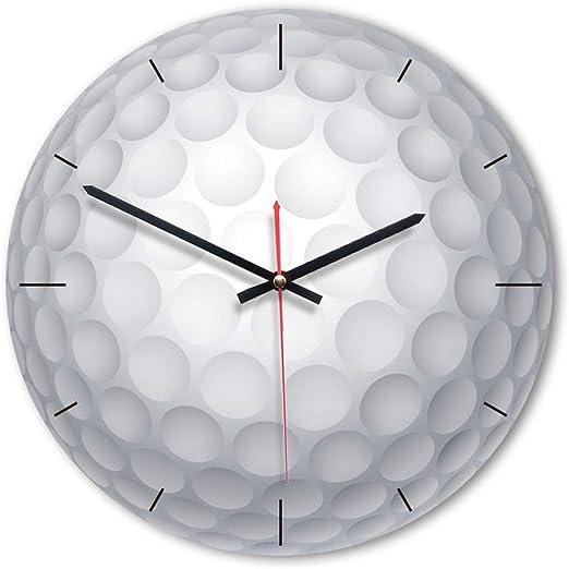 Techting - Reloj de Pared Redondo sin números, diseño de balón de ...